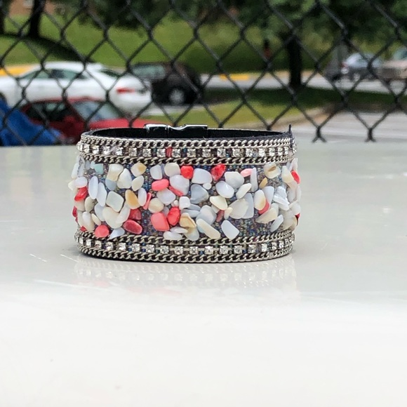 Jewelry - Coral Chain-link & beaded Ariel inspired bracelet
